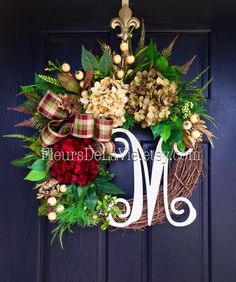 A personal favorite from my Etsy shop https://www.etsy.com/listing/454406812/front-door-wreath-fall-wreath-for-door