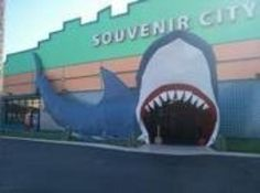 Souvenir City Gulf Shores, Alabama.  I can't leave the beach without a stop here.  I MUST enter through the shark's mouth!