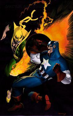 Captain America vs. Iron Fist by Chris Stevens