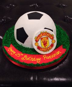 Manchester United Soccer Ball Grooms Cake