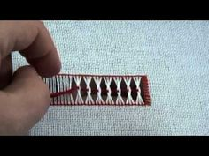 Learn How To Do an Interlaced Hem Stitch - YouTube