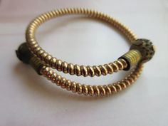 Victorian Bypass Bracelet Antique Bracelet Gold by AndOnToWillow