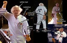 Doc Brown Costume - Radiation Suit BTTF Part 1