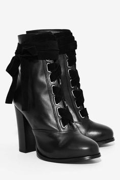 Nasty Gal Take a Hike Leather Boot - Black - Boots + Booties   Power Player f5cc670f6b23