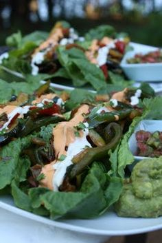 Raw mexican food