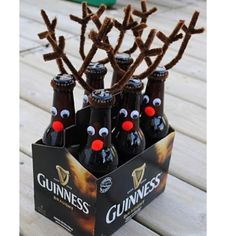 Saw this on Pinterest & loved it! Simple Christmas gift! Root beer, of course.