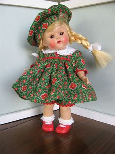 Vintage Ginny Doll Plaid Dress, Hat, Panties from Lynn's Fanciful Notions Muffie #ClothingAccessories