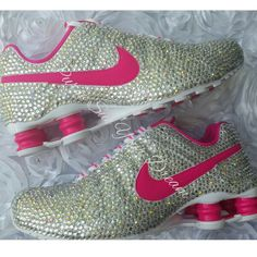 b258d6fed851 Custom Crystal Swarovski Rhinestone Nike Shox by PurseSueYourDream. Best  Shoes for Men   Women