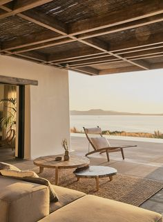 Villa Mandra by K-Studio — MODEDAMOUR Outdoor Spaces, Outdoor Living, Outdoor Decor, Outdoor Furniture, Plywood Furniture, Style At Home, Exterior Design, Interior And Exterior, Stone Interior