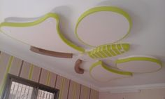 Handmade Butterfly gypsum ceiling design for kids rooms  www.learndecoration.com