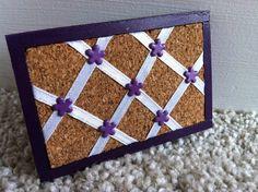 "Dollhouse Miniature Cork Memo Board Office Bulletin 1"" Scale 1:12 Handmade"
