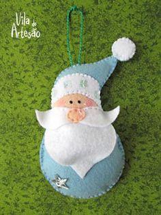 Papai Noel com roupa azul