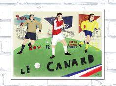Robert Pires Arsenal Print by CatandBall on Etsy, £18.50