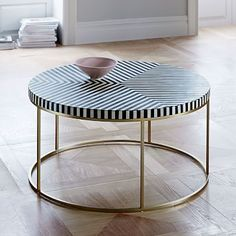 Striped Bone Inlaid Coffee Table #westelm