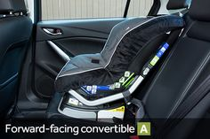 """""""Our rear- and forward-facing convertible seats all fit well, with no need to move the front passenger seat forward to install the latter two seats."""""""