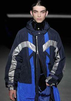 Metallics: A/W young men's catwalk trend flash Young Man, Winter Collection, Catwalk, Motorcycle Jacket, Rain Jacket, Windbreaker, Menswear, Jackets, Fashion