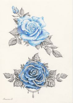 Blue Rose tattoo designs.