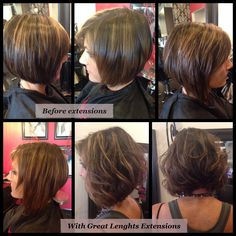Great Lenghts Hair Extensions Before And After Adding Length To Sides Only W
