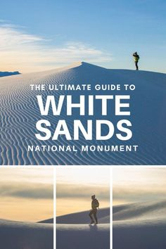 The Ultimate Guide to White Sands National Monument in New Mexico| These beautiful gypsum sand dunes should be high on your traveling bucket list. From hiking, to backcountry camping, to bicycling, to epic photography shots at sunset, there are a lot of fun things to do at White Sands! In this post I detail all you need to know about visiting this breathtaking National Monument.