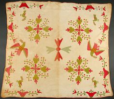 Currants & Coxcomb, 1850-1870 Briscoe Center for American History, University of Texas at Austin: Winedale Quilt Collection;