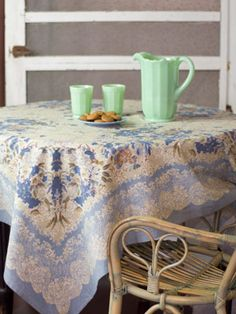 """""""Zhivago"""" tablecloth, from April Cornell"""
