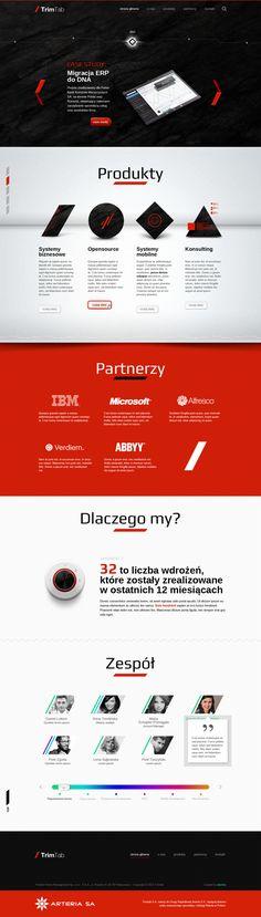 TrimTab webpage by Elastika , via Behance