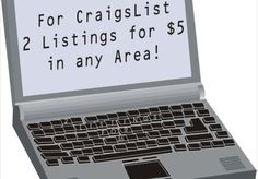 I will post 2 Craigslist Classified Ads to in any area or category, except the jobs listings sections