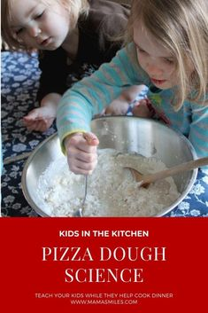 A love of science starts early, and the kitchen is a fantastic place to foster it! Learn how to incorporate pizza dough science lessons as you let the kids help cook dinner. Kids Cooking Activities, Kids Cooking Recipes, Educational Activities For Kids, Preschool Science, Science For Kids, Cooking With Kids, Kids Meals, Steam Activities, Stem Science
