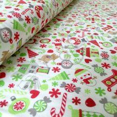 Riley Blake - Cotton Knit - Holiday Joy - White