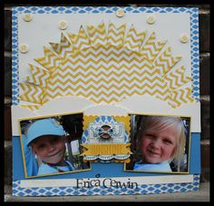 Stampin' Up! Scrapbook Layout  by Erica Cerwin at Pink Buckaroo Designs: Artisan Wow Wednesday Blog Hop- You Are My Sunshine