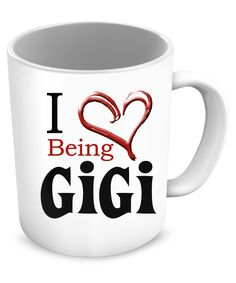 - Description - Mug Details - Shipping Details I love being a Gigi. You can also use your pendant as a charm 11oz mug Dishwasher and microwave safe Black mugs are a slightly softer black than it appea