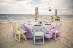 A colorful wedding reception at Dream Riviera Cancun (Photo credit: Adventure Photos) #IDoAVDW #AppleVacations #DestinationWeddings #love #beachwedding #vintagewedding #vacation #Dreams #Mexico #RivieraCancun