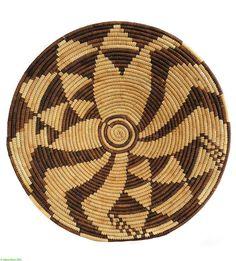 Botswana Basket Bowl Shaped African 69684 by africadirect on Etsy, $150.00