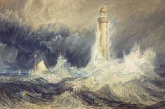 Joseph Mallord William Turner, Google Art Project, Bell Rock Lighthouse, Art Romantique, Turner Watercolors, Turner Painting, Lighthouse Painting, Art Graphique, Will Turner