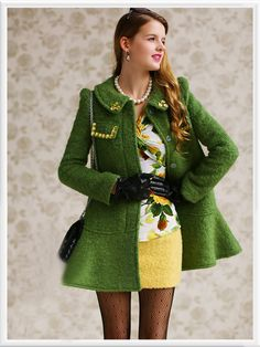Morpheus Boutique  - Green Crystal Lovely Ruffle Loose Long Sleeve Coat, CA$197.63 (http://www.morpheusboutique.com/green-crystal-lovely-ruffle-loose-long-sleeve-coat/)