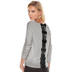 LC Lauren Conrad Lace Bow Sweater - Women's #Kohls