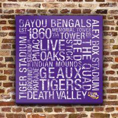 Fab.com   LSU Subway Art