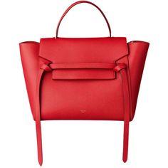 バッグ ❤ liked on Polyvore featuring bags, handbags, celine, сумки, red purse, red handbags and red bags