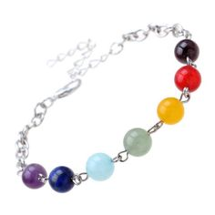 Women Yoga Reiki Healing Balance Bracelet 7 GEMSTONE Beads Chakra Bracelets for sale online Chakra Beads, Chakra Jewelry, Chakra Bracelet, Yoga Jewelry, Reiki, Lava Bracelet, Bangle Bracelets, Bangles, Handmade Bracelets