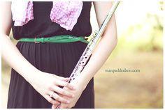 senior, photo, flute, music, dress, pic, Marquel photography