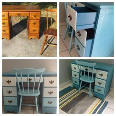 Buy an old desk and chair and #revamp it! #DIY
