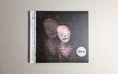 A CD album called V I O L E T by vacaliebres , via Behance