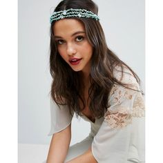 ASOS Pretty Paper Flower Vine Headband (€8,45) ❤ liked on Polyvore featuring accessories, hair accessories, green, green headband, head wrap hair accessories, hair band headband, asos and headband hair accessories
