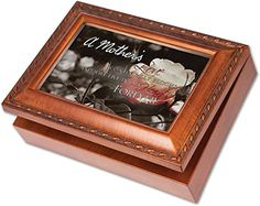 A Mothers Love Bereavement Memory Cottage Garden Rich Woodgrain Finish Jewelry Music Box  Plays Song Amazing Grace ** Continue to the product at the image link.