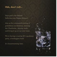 Speakeasy Invitations | Nested Development: How to throw a 1920's party - Decorations                                                                                                                                                                                 Mehr