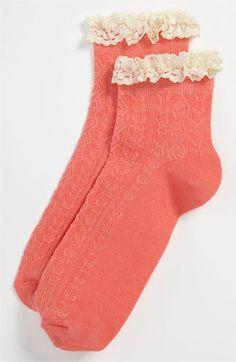 Topshop Lace Trim Ankle Socks   Nordstrom