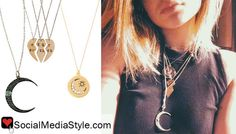 Buy Kylie Jenner's friendship and moon necklaces, here!
