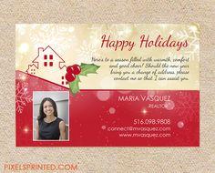 realtor holiday postcards, realtor Christmas postcards, realor holiday greeting card, real estate holiday postcard
