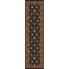 Shop Style Selections Natcher Black Woven Runner (Common: 2-ft x 7-ft; Actual: 1.916-ft x 7.25-ft) at Lowes.com