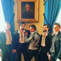 The Bad Bard (Christian Borle) and his sexy entourage from Something Rotten
